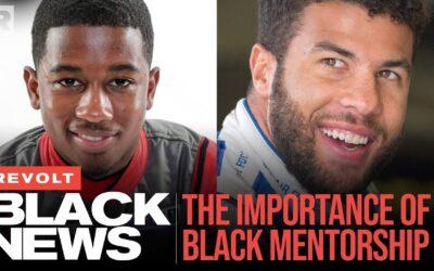BUBBA WALLACE AND RAJAH CARUTH TALK THE IMPORTANCE OF MENTORSHIP AND NASCAR | REVOLT BLACK NEWS