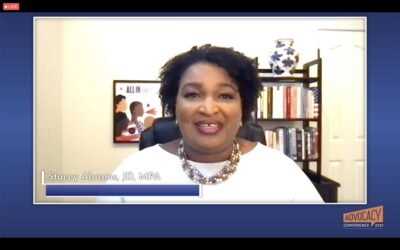 Stacey Abrams speaks about things like boycotts, voter rights, and vaccinating under-served regions.
